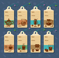 Price tag set of vector tags for drinks and juices Royalty Free Stock Photos