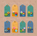 Price tag tags with dessert and pastry vector illustration Stock Photography