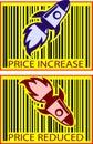 Price value rocket Royalty Free Stock Photo