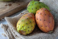 Prickly pear bunch of fresh tasty pears Royalty Free Stock Photos