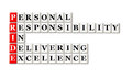 Pride acronym conceptual personal responsibility in delivering excellence Royalty Free Stock Photo