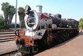 Pride of africa train about to depart from capital park station in pretoria south africa september steam on september Royalty Free Stock Photo