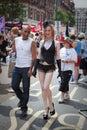 Pride London 2009 Gay Couple Royalty Free Stock Photo