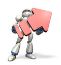 Pride robot had a big arrow isolated computer generated image Royalty Free Stock Photo
