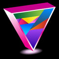 Pride Triangle Stock Image