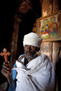 A priest holding a cross, Ethiopia