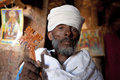 Priest holding a wooden cross, Ethiopia