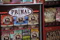 Primal pet food some varieties of dog from on display during a open event gathering Royalty Free Stock Photography