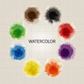 Primary color watercolor vector set of Royalty Free Stock Image