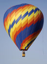 A primary color zig-zag spiral hot air balloon Royalty Free Stock Photos