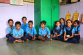 Primary education india is struggling with their literacy rate many part of specially rural there is lack of infrastructure Stock Photo