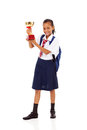 Primary schoolgirl trophy Royalty Free Stock Images