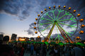 Primavera barcelona may ferris wheel at sound festival on may in barcelona spain Stock Image