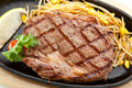 Prime beef grilled foods steak with soybean Royalty Free Stock Photography