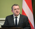 Prime Minister of the Kingdom of Denmark Lars Lokke Rasmussen Royalty Free Stock Photo