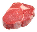 Prime raw rib eye steak on white Royalty Free Stock Photography