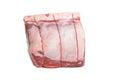 Prime rib roast isolated on white Royalty Free Stock Images