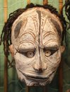 Primitive frightening mask from Papua New Guinea, Australia Royalty Free Stock Photo
