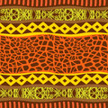 Primitive ornament seamless pattern ornamental backround tribal style Stock Images