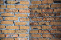 Primitive striking brick wall / background Royalty Free Stock Photo