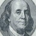 Primo piano del Benjamin Franklin Immagini Stock Libere da Diritti