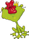 Prince frog kiss Royalty Free Stock Image