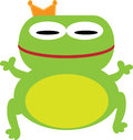 Prince frog with white isolated blackground Royalty Free Stock Photos