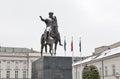 Prince Jozef Poniatowski equestrian statue in Warsaw, Poland.