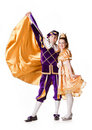 Prince and Princess for Halloween. Royalty Free Stock Image