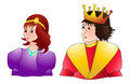 Prince and princess handsome pretty vector illustration Royalty Free Stock Images