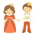Prince and princess illustration of beautiful Royalty Free Stock Photography