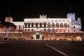 Prince s palace of monaco at night it is the official residence the Stock Photography