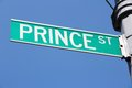 Prince street new york city united states famous sign in manhattan Royalty Free Stock Image