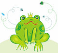 Prince Vector Illustration de grenouille Image libre de droits