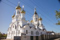 Prince vladimir s church in the city of irkutsk and st litvintsevskaya white orthodox located Stock Image