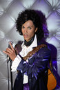 Prince wax statue of hollywood celebrity and singer image taken at the madame tussauds museum at las vegas Stock Image