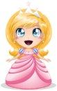 Princesa rubia In Pink Dress Foto de archivo libre de regalías