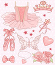 Princess Ballerina Set Royalty Free Stock Photography
