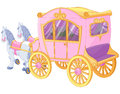 Princess carriage the for true Royalty Free Stock Photography