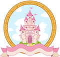 Princess castle design Stock Image