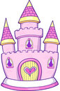 Princess Castle Vector Illustration Royalty Free Stock Images