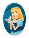 Princess Cinderella Holding Magic Shoe Vector Cartoon