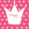 Princess crown background vector illustration this is file of eps format Stock Image