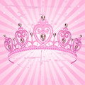 Princess Crown on radial grange background Stock Photos