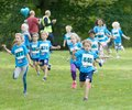 Princess Estelle and other kids running during the Generation PEP day in Hagaparken, to make kids be more physical active and more