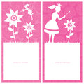 Princess and fairy template design this is card file Stock Photography