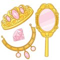 Jewelry box with tiara Fairy Tale Elements Princess Accessories