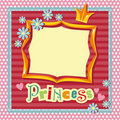 Princess frame Royalty Free Stock Photos