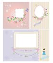 Princess frame baby and background scrapbooking Stock Image
