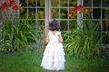 Princess in the garden Stock Photography